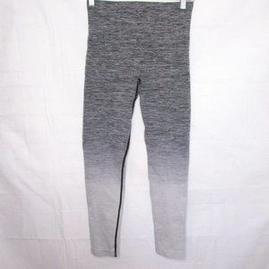 Running Girl Gray Ombre Active Crop Leggings